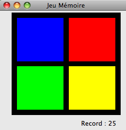 screenshot de Jeu mémoire Brain Game Cocoa Mac App