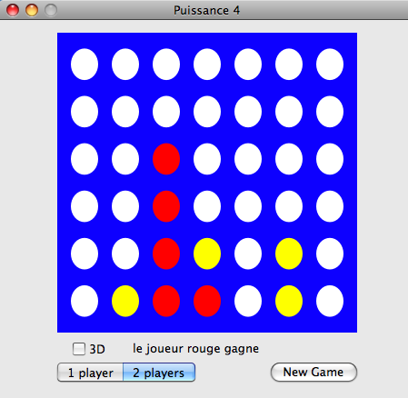 screenshot de Puissance 4 connect four Cocoa Mac App
