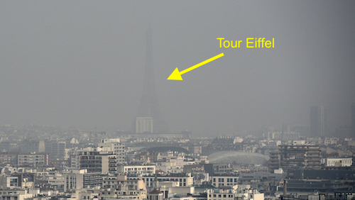 tour eiffel pollution