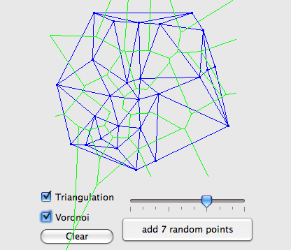screenshot de la triangulation de delaunay
